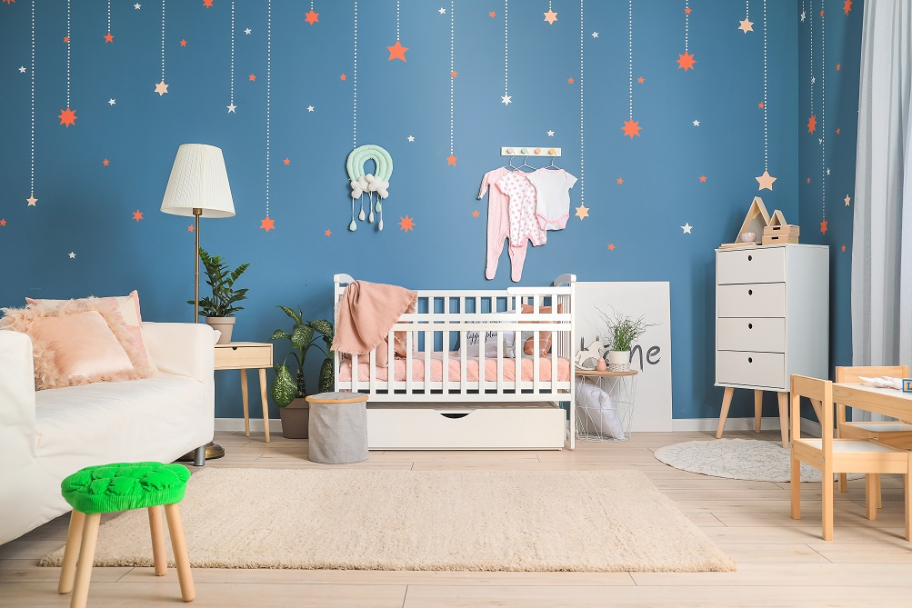 Theme based wall paint image for your newborn's bedroom