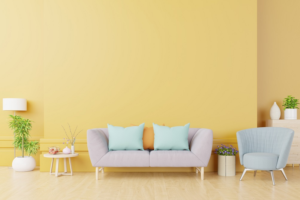 Gold-coloured living-rooms